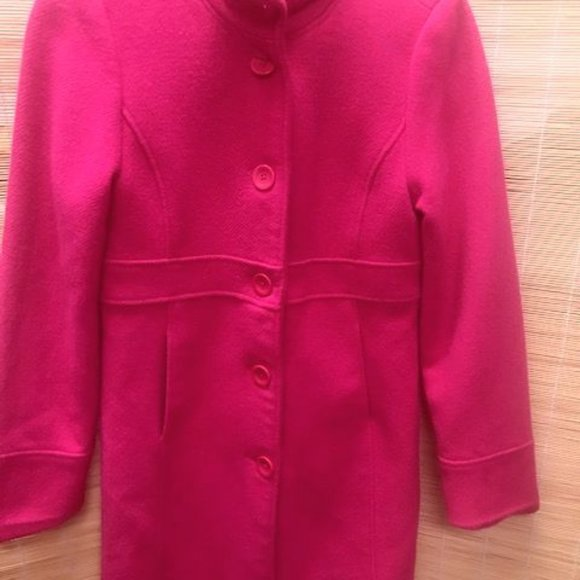 Eivissa Girl Winter Coat WOOL 12 Bubble Gum Pink